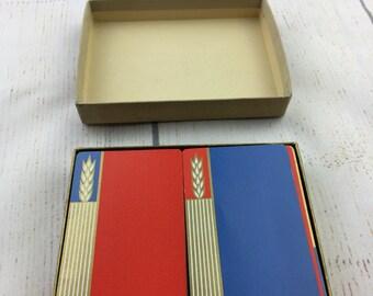 Vintage Raisler Card Deck, double card deck