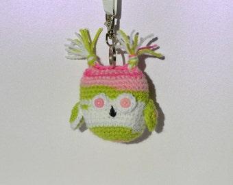 Keyring - Keychain - Handbag Charm - Owl Amigurumi - Owl - Woodland - Crochet Owl - Owl Keyring - Owl Charm