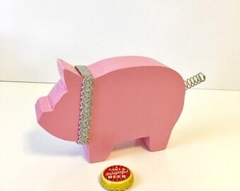 Wood Pig, Pink