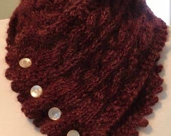 Hand knit ALPACA neck warmer