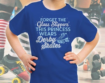 Roller Derby Shirt for Girls and Women - Juniour Gift for Girls - This Princess Wears Derby Skates - Gifts for Jammers & Blockers Like Derby