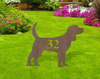 Dog Silhouette with Number