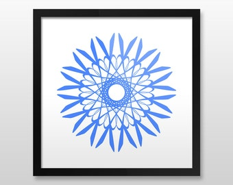 Zen Wall Art zentangle art print mandala art print wall art print zen