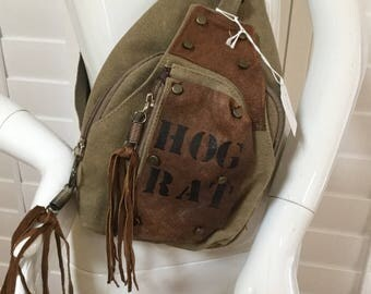 Messenger Bag  Rat ROD motorcycle bag Steampunk bag