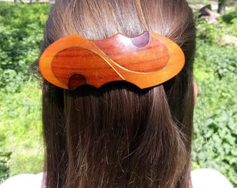 Hair clip Sister gift Coworker gift Christmas gift Womens gift Gift for her Wife gift Girlfriend gift Gift for mom Wood hair accessory