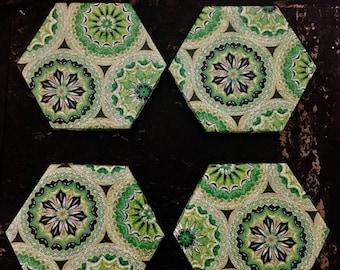 Hexagon tile coasters