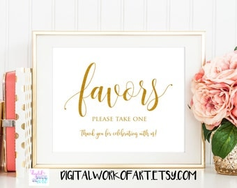 Wedding Favors Sign Printable, Floral Wedding Sign, Favors, Love is Sweet, Treats Sign, Wedding Decor,Favor Table,Reception Sign,gold #SG