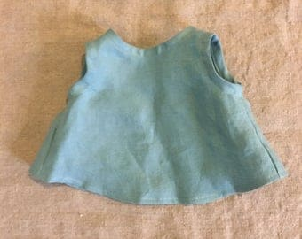 Washed Linen tunic in marine