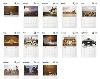 2017 Wall Calendar, Europe Destinations, 8.5x11, Calendar