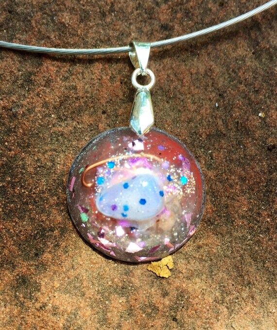 EarthWaves Negative Energy Protection Orgone Energy Pendant- Ascended Masters Orgonite Charm