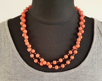 Pretty coral coloured beads