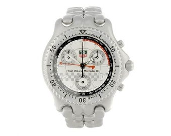 TAG HEUER - a limited edition gentleman's S/el West McLaren Mercedes 98 watch + box