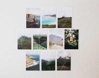 Set of 5 or 10 Titled Postcards // featuring photography of beautiful Western Australia & Mauritius