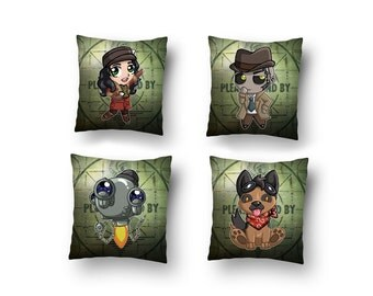 Fallout 4 Character Cushions ver 2  (16x16) video game pillow