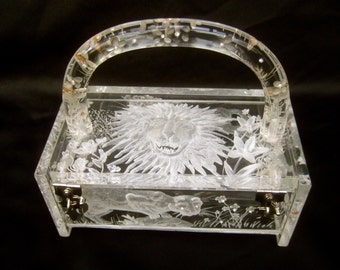 Museum Worthy Artisan Lucite Box Purse Designed by Joyce Francis