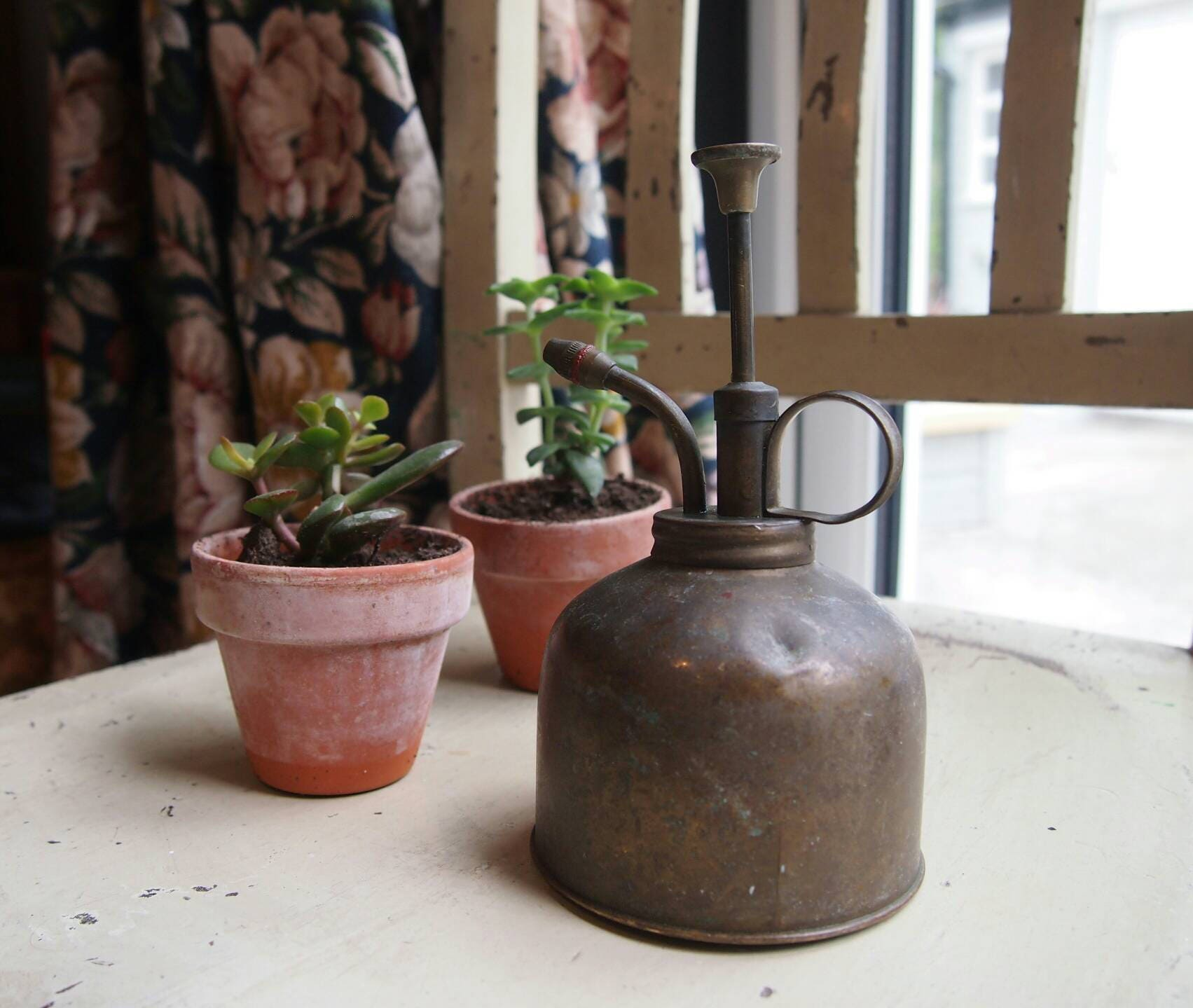 Mini Vintage Brass Indoor Watering Can Plant Mister Water