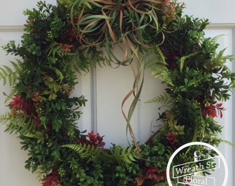 Boxwood Wreath, Greenery Wreath, Front Door Wreath, Spring Wreath, Wreath Street Floral, Summer Wreath, Wreath, Year Round Wreath