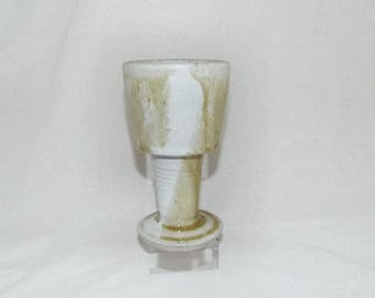 SALE! Stoneware Glazed Chalice  - Goblet - Pagan - witchcraft - wicca - vintage – decorative – Gift -  Solstice - Equinox - Altar