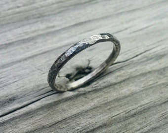 SALE 25% OFF Hammered Ring * Hammered Stacker * Sterling Stacker * Hammered Jewelry * Artisan Jewelry * Metalsmith Jewelry * Boho Jewelry