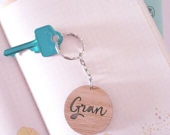 Gran Mini Wood Keyring
