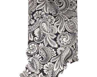 Black and white paisley state unframed prints
