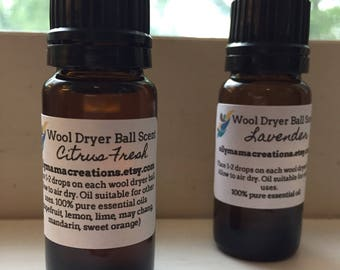 Scent for Wool Dryer Balls - Essential oil dryer ball recharge
