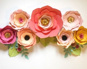 Giant Paper Flowers Room or Party Decor - Custom Colors