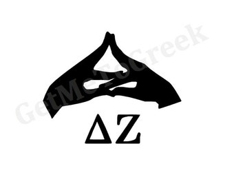 Delta Zeta Hand Sign Decal