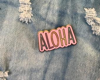 Aloha Enamel Pin