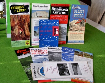 Vintage lot of 1960's Brochures