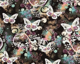 Butterfly Fitted Crib Sheet  - Girl Nursery Bedding - Butterfly Baby Bedding - Crib Bedding