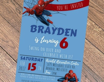 Spiderman Birthday Invitation PDF