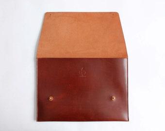 Leather clutch Bag Handbag Minimalistic leather clutch Large leather clutch