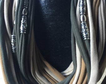 Designer long spaghetti scarf