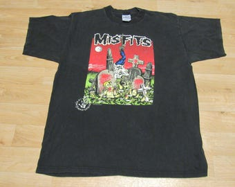 Vintage Misfits Shirt 90s Graveyard Feast Pushead Samhain Danzig XL