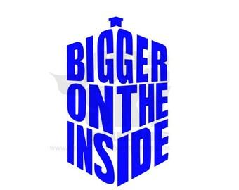"Doctor Who ""Bigger on the Inside"" TARDIS Vinyl Decal/Bumper Sticker"