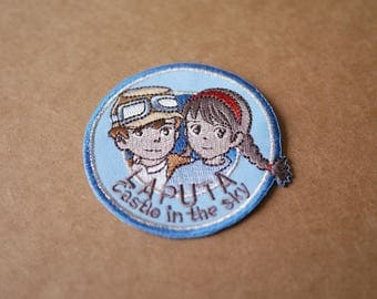 Cartoon patch, Hayao miyazaki movie patches, Appliqué Embroidery patch, iron on patches, sew on patch, 6.7*6.7cm