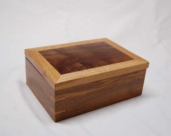 Wooden Ring Box - Exotic Hardwood, Black Walnut and Quarter Sawn Oak