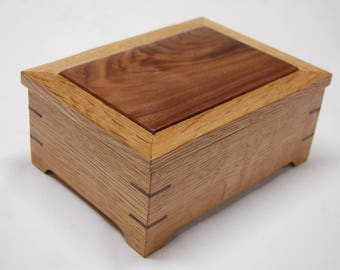 Wooden Ring Box - Black Walnut and White Oak