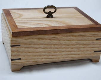 Multiple Ring /Jewelry Wooden Box