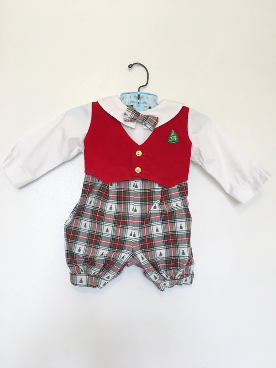 Vintage Baby Clothes 6-9 Months Boys Christmas Outfit Ugly