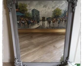Vintage Ornate Grey Mirror