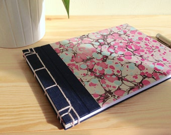Notebook/notebook cover Japanese marmolada rosa (A5)