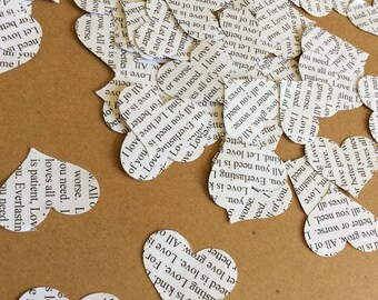 Wedding Love Confetti Writing
