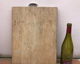 ANTIQUE VINTAGE FRENCH bread or chopping cutting board wood 16021712