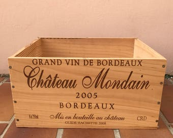 French Original Wine Crate Bottle MONDAIN 12041725