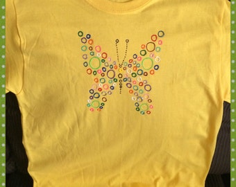 Butterfly Tshirt Hand Painted