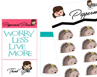 Little Hedgehog planner stickers {#181}