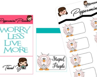 Stressed Out Owl box Planner Stickers {#211}