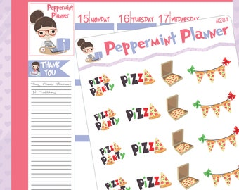Pizza Party , Pizza planner stickers #284